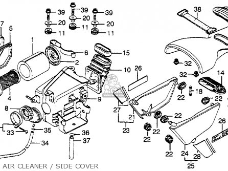Honda XL350 1978 USA parts lists and schematics
