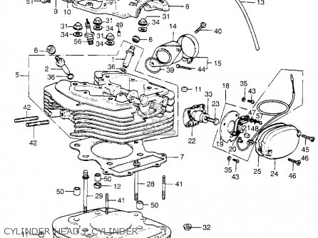 Honda Xl350 K0 1974 Usa parts list partsmanual partsfiche