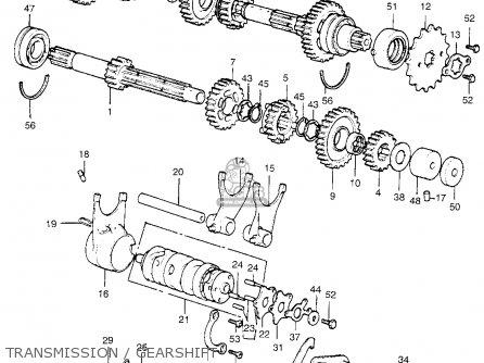 Honda XL350 K1 1975 USA parts lists and schematics