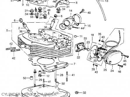 Honda Xl350 K1 Usa parts list partsmanual partsfiche
