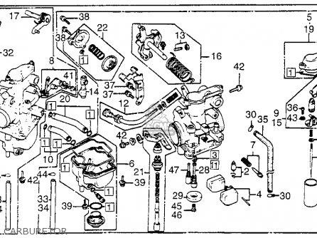 Honda XL350R 1984 (E) USA parts lists and schematics
