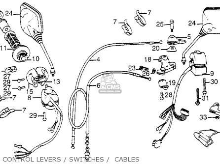 Honda Xl350r 1984 (e) Usa parts list partsmanual partsfiche