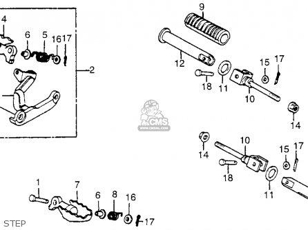 Honda Xl350r 1984 (e) Usa parts list partsmanual partsfiche