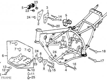 Honda Xl350r 1985 (f) Usa parts list partsmanual partsfiche