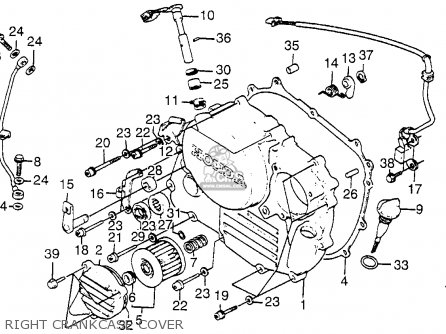 Honda XL350R 1985 (F) USA parts lists and schematics