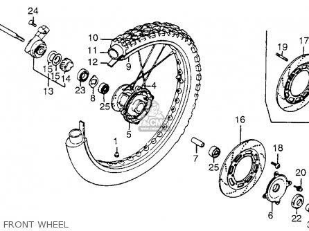 Honda Xl350r 1985 Usa parts list partsmanual partsfiche