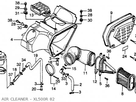 Honda Xl500r 1982 (c) Usa parts list partsmanual partsfiche