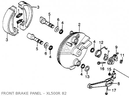 Honda XL500R 1982 (C) USA parts lists and schematics