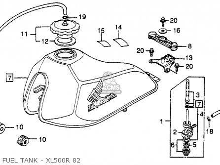 Honda Xl500r 1982 (c) Usa parts list partsmanual partsfiche