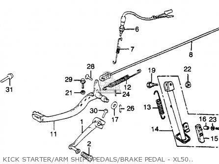 Honda XL500R 1982 (C) USA parts lists and schematics