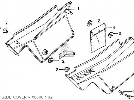 Honda Xl500r 1982 Usa parts list partsmanual partsfiche