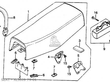 Honda Xl500s 1979 (z) Usa parts list partsmanual partsfiche