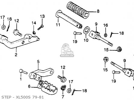 Honda Xl500s 1979 (z) Usa parts list partsmanual partsfiche