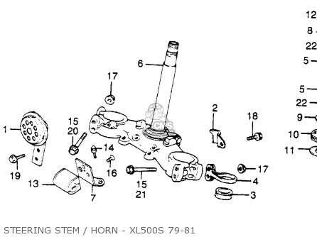 Honda Xl500s 1980 Usa parts list partsmanual partsfiche