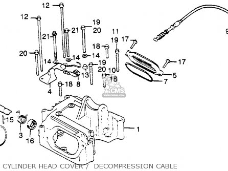 Honda Xl500s 1981 (b) Usa parts list partsmanual partsfiche