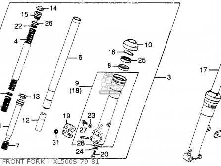 Honda XL500S 1981 (B) USA parts lists and schematics