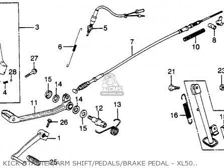 Honda XL500S 1981 (B) USA parts lists and schematics