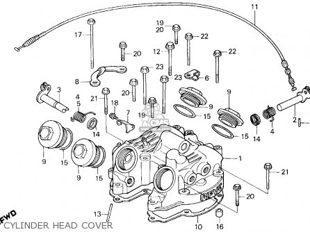 Honda Xl600r 1983 (d) Usa parts list partsmanual partsfiche