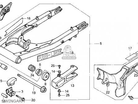 Honda Xl600r 1983 (d) Usa parts list partsmanual partsfiche