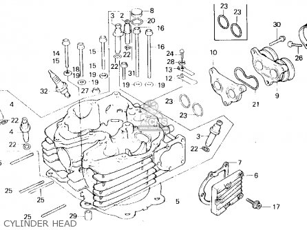 Honda Xl600r 1983 Usa parts list partsmanual partsfiche