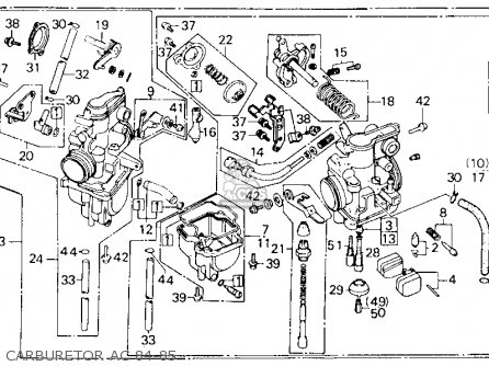Honda XL600R 1984 (E) USA parts lists and schematics