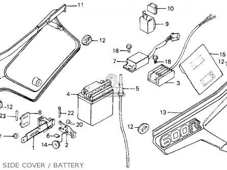 Honda Xl600r 1984 (e) Usa parts list partsmanual partsfiche