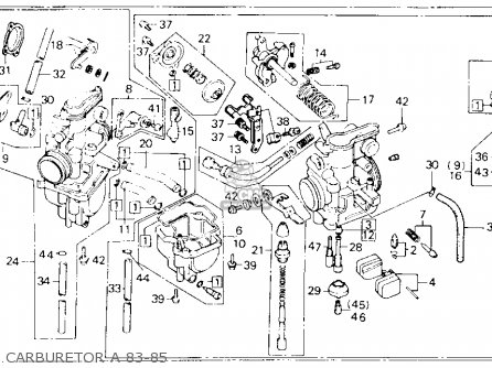 Honda XL600R 1985 (F) USA parts lists and schematics