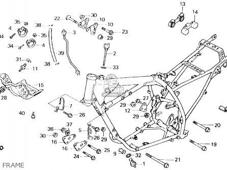 Honda Xl600r 1986 (g) Usa parts list partsmanual partsfiche