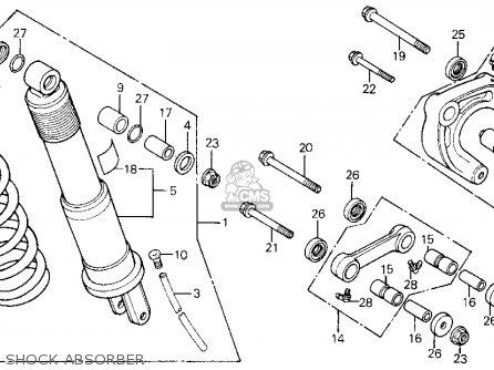 Honda XL600R 1986 (G) USA parts lists and schematics