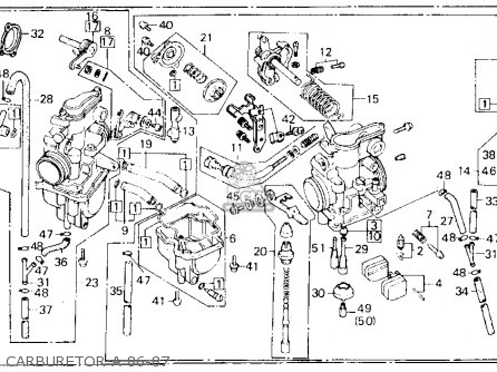 Honda Xl600r 1986 Usa parts list partsmanual partsfiche