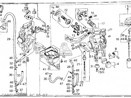 Honda Xl600r 1987 (h) Usa parts list partsmanual partsfiche