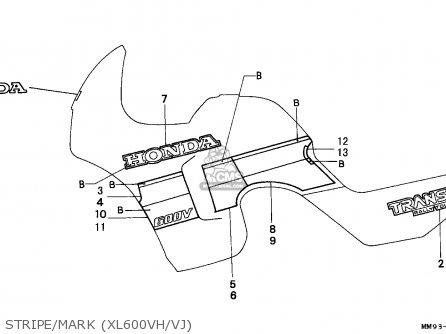 Honda Xl600v Transalp 1987 Canada parts list partsmanual