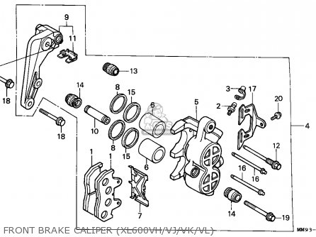 Honda Xl600v Transalp 1988 (j) England parts list