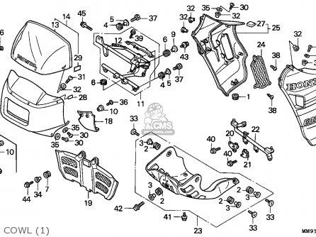 Honda Xl600v Transalp 1989 (k) Austria parts list