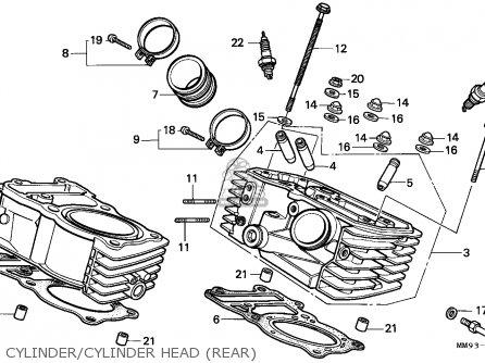 Honda Xl600v Transalp 1989 (k) England parts list