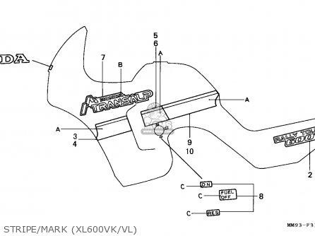 Honda Xl600v Transalp 1989 (k) Germany parts list