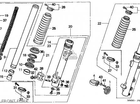 Honda Xl600v Transalp 1989 (k) Italy parts list