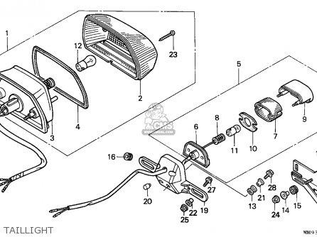 Honda Xl600v Transalp 1992 (n) England parts list