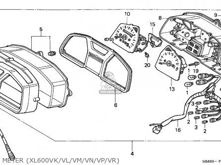Honda Xl600v Transalp 1992 (n) Italy parts list
