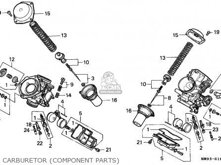 Honda Xl600v Transalp 1993 (p) Germany parts list