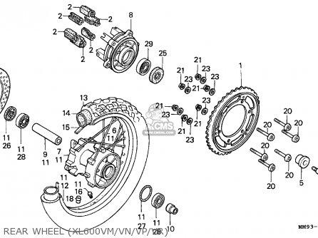 Honda XL600V TRANSALP 1993 (P) ITALY parts lists and