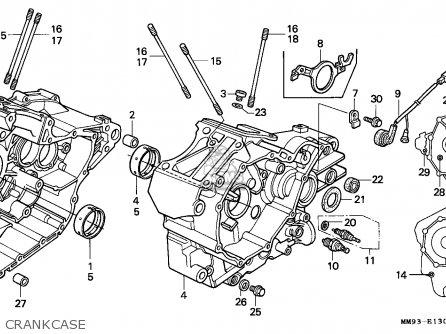 Honda Xl600v Transalp 1993 (p) Spain parts list