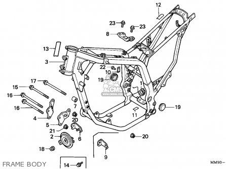 Honda XL600V TRANSALP 1993 (P) SWITZERLAND parts lists and