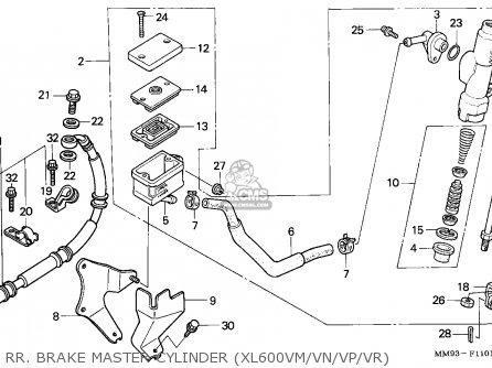 Honda XL600V TRANSALP 1994 (R) ITALY parts lists and