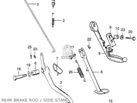Honda Xl70 1976 Usa parts list partsmanual partsfiche
