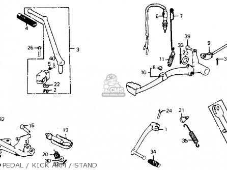 Honda Xl75 1977 Usa parts list partsmanual partsfiche