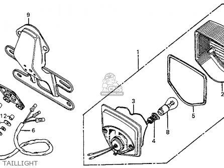 Honda XL75 1977 USA parts lists and schematics