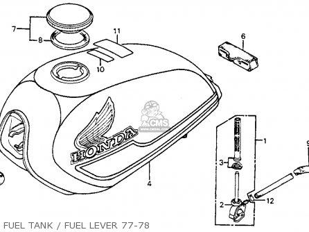 Honda Xl75 1978 Usa parts list partsmanual partsfiche