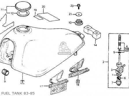 Honda Xl80s 1983 (d) Usa parts list partsmanual partsfiche