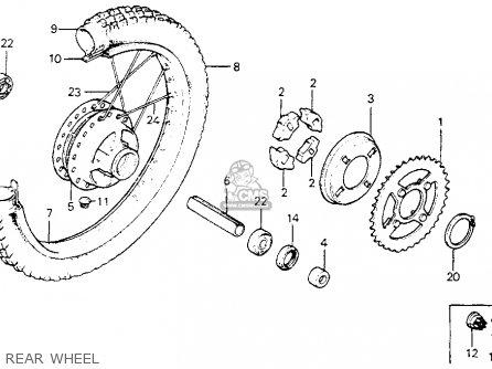 Honda Xl80s 1983 Usa parts list partsmanual partsfiche